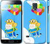 "Чехол на Samsung Galaxy S5 Duos SM G900FD Adventure time. Finn and Jake v3 ""2453c-62"""
