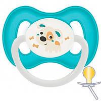 Пустышка латексная круглая Bunny&Company, 0-6 м, бирюзовая, Canpol babies (23/277_tur), Разноцветный
