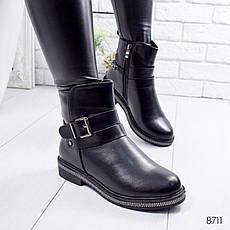 """Ботинки женские зимние """"Euwey"""" черного цвета из эко кожи. Ботильоны женские. Ботильоны зима, фото 3"""