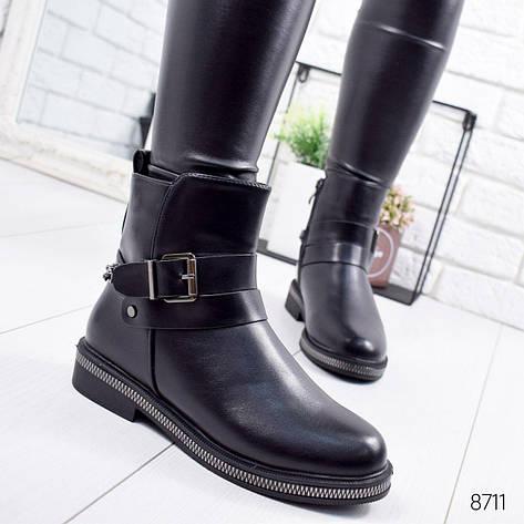 """Ботинки женские зимние """"Euwey"""" черного цвета из эко кожи. Ботильоны женские. Ботильоны зима, фото 2"""