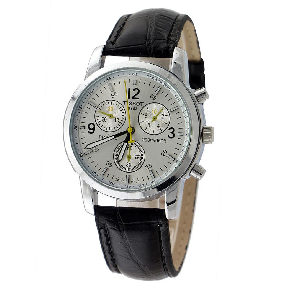 Наручные мужские часы Tissot серебряный цвет