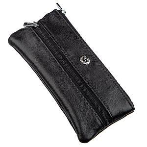 Мужская компактная ключница ST Leather 18838 Черный, Черный