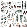 Лист с картинками, коллекция По снегу 30х30 см.