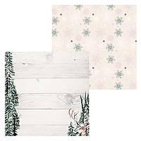 4 Лист двусторонней бумаги для скрапбукинга, коллекция По снегу 30х30 см.