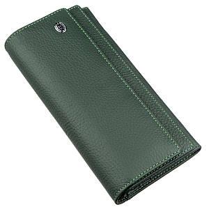 Классический женский кошелек с визитницей ST Leather 18949 Зеленый, Зеленый