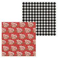 4 Лист двусторонней бумаги для скрапбукинга, коллекция Снегопад 30х30 см.