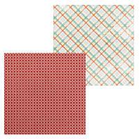 3 Лист двусторонней бумаги для скрапбукинга, коллекция Снегопад 30х30 см.
