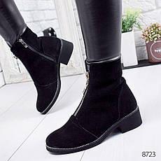 """Ботинки женские зимние """"Strate"""" черного цвета из натуральной замши. Ботильоны женские. Ботильоны зима, фото 3"""