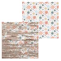 1 Лист двусторонней бумаги для скрапбукинга, коллекция Winte 30х30 см.