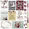 Лист с карточками, коллекция Зимняя мелодия 30х30 см.