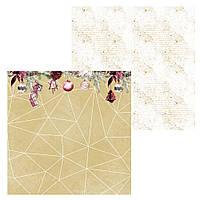 5 Лист двусторонней бумаги для скрапбукинга, коллекция Зимняя мелодия 30х30 см.
