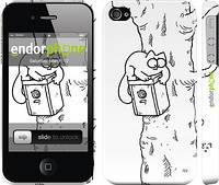 "Чехол на iPhone 4s Кот Саймона. На дереве ""651c-12"""