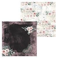 4 Лист двусторонней бумаги для скрапбукинга, коллекция Полуночные истории 30х30 см.