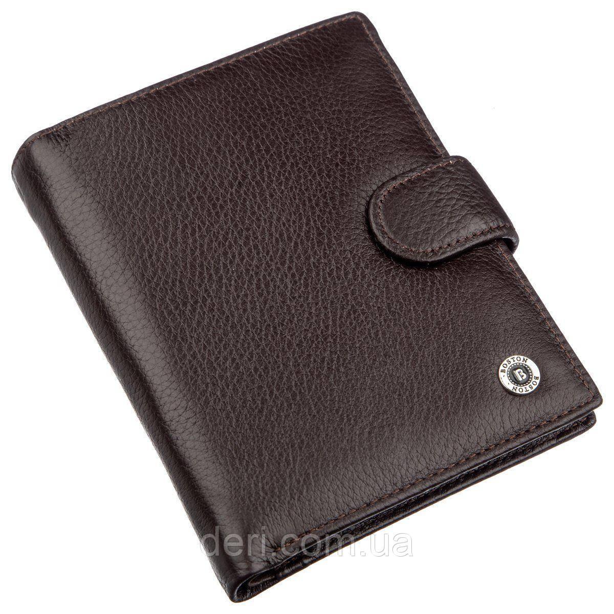 Многофункциональный мужской кошелек с карманами под документы и монеты