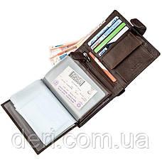 Многофункциональный мужской кошелек с карманами под документы и монеты, фото 3
