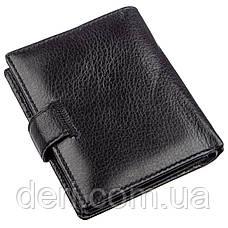 Небольшой кожаный кошелек для мужчин ST Leather Черный, Черный, фото 2