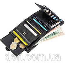 Небольшой кожаный кошелек для мужчин ST Leather Черный, Черный, фото 3