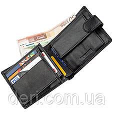 Превосходный мужской бумажник ST Leather Черный, Черный, фото 3