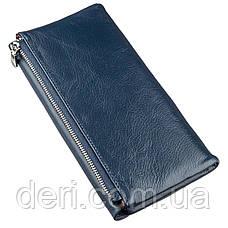 Восхитительный кошелек-клатч для женщин ST Leather 18843 Синий, Синий, фото 2