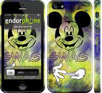 "Чехол на iPhone 5 Swag. Mickey Mouse v2 ""1070c-18"""