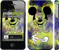 "Чехол на iPhone 4 Swag. Mickey Mouse v2 ""1070c-15"""