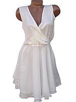 Красивое платье с глубоким вырезом (белый 44,46), фото 1