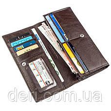 Вместительный кошелек для женщин коричневый, фото 3