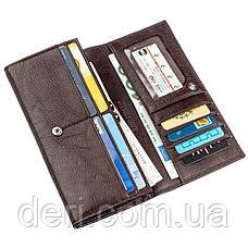 Вместительный кошелек для женщин коричневый, фото 2
