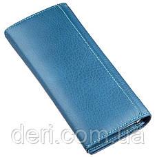 Практичный женский кошелек ST Leather 18899 Голубой, Голубой, фото 2