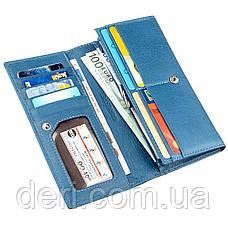 Практичный женский кошелек ST Leather 18899 Голубой, Голубой, фото 3