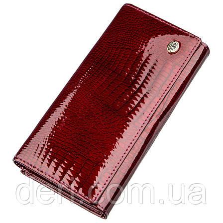 Стильный женский кошелек бордовый, фото 2