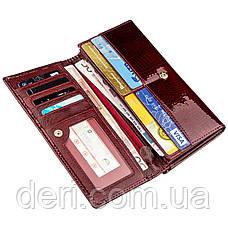 Стильный женский кошелек бордовый, фото 3
