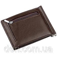 Стильный мужской зажим ST Leather Коричневый, Коричневый, фото 2