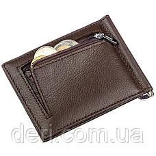 Стильный мужской зажим ST Leather Коричневый, Коричневый, фото 3