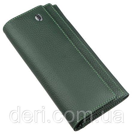 Классический женский кошелек с визитницей ST Leather 18949 Зеленый, Зеленый, фото 2