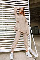 Костюм Doratti Nice женский теплый вязанный свитер свободного кроя и штаны разные цвета Ddor1231