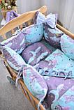 Защитные бортики, подушка, одеяло  в кроватку Единороги, фото 3