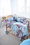 Защитные бортики, подушка, одеяло  в кроватку Единороги, фото 4