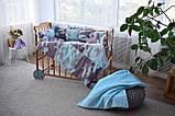 Защитные бортики, подушка, одеяло  в кроватку Единороги, фото 5