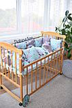 Защитные бортики, подушка, одеяло  в кроватку Единороги, фото 6