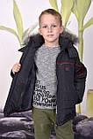 Теплая  зимняя куртка для мальчика 98-104, фото 4