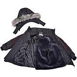 Теплая  зимняя куртка для мальчика 98-104, фото 5