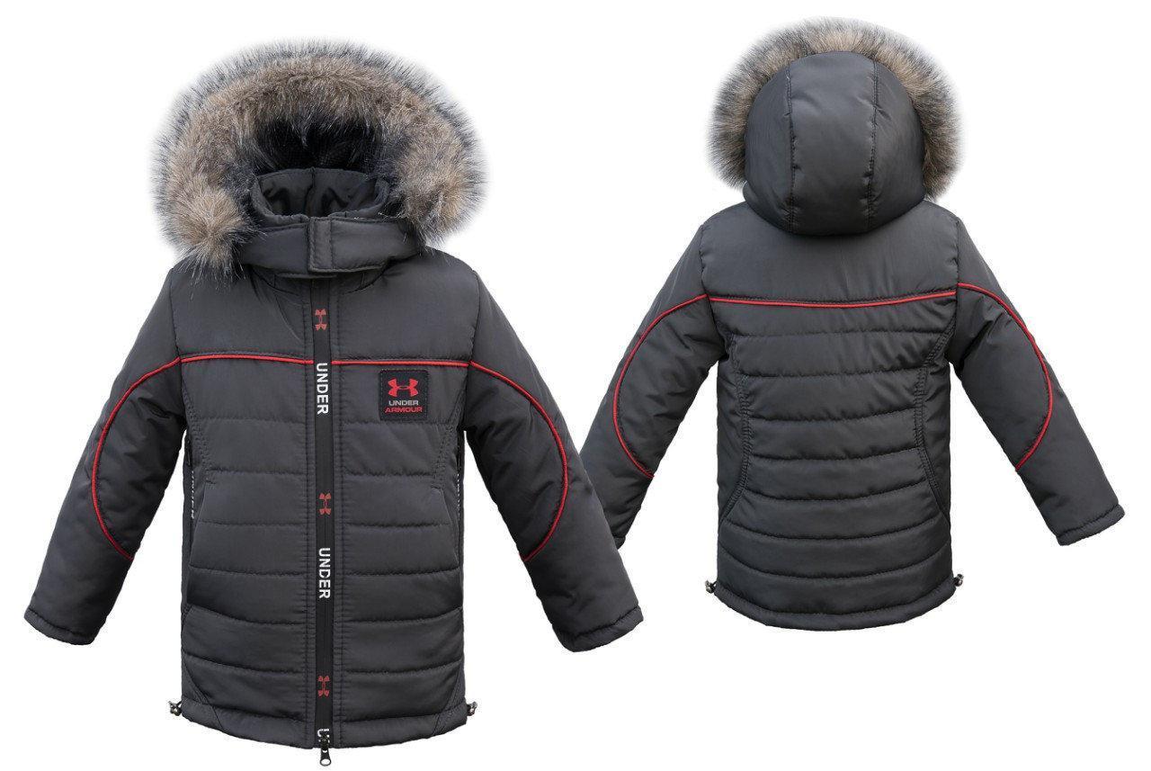 Теплая  зимняя куртка для мальчика 98-104