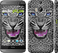 "Чехол на HTC One M8 dual sim Леопард v3 ""1088c-55"""