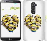 "Чехол на LG G2 Миньоны 4 ""301c-37"""