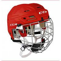 Шлем CCM TACKS 110 с решеткой, Размер XS, красный, T110C-R-XS
