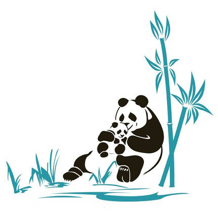 Виниловая Наклейка Glozis Panda, фото 2