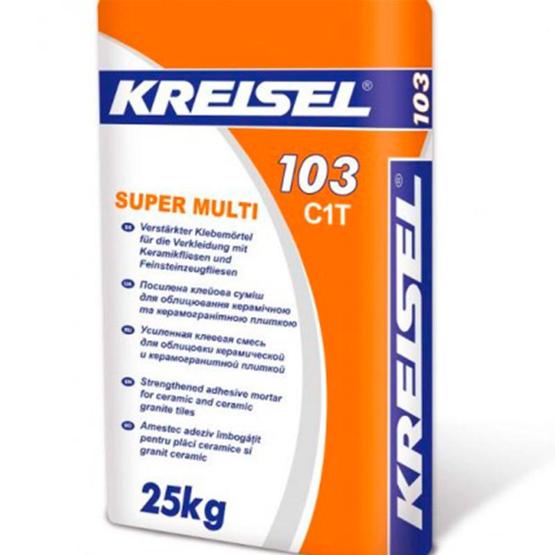 Клей для плитки Kreisel Super Multi-103 (Крайзер Супер Мульти) 25 кг усиленный
