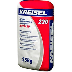 Клей д\прикл. и армир. пенопласта KREISEL Styrlep 220 (Крайзель Стирлеп) 25 кг