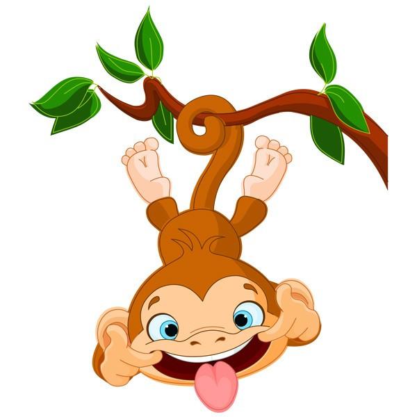 Виниловая Наклейка Glozis Funny Monkey